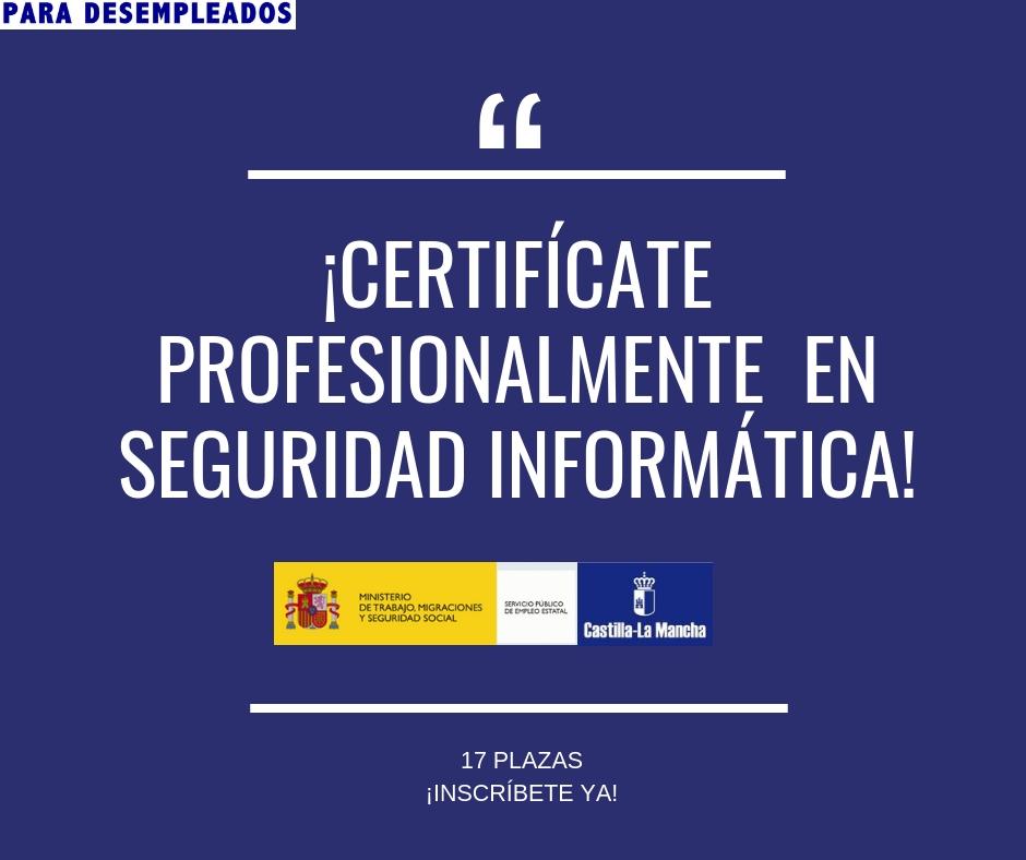 Certificado de Profesionalidad de Seguridad Informática