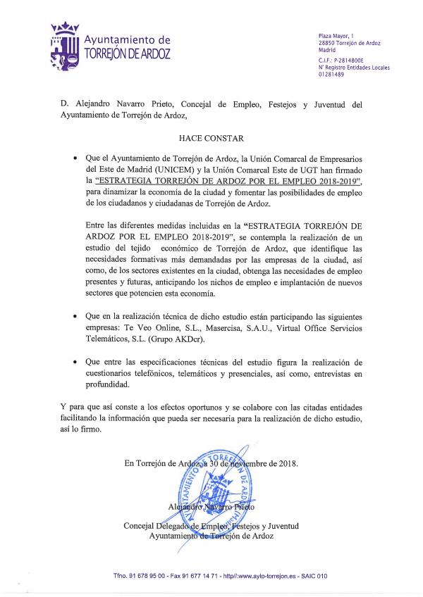 Acreditación del Excmo. Ayto. de Torrejón de Ardoz