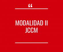 Modalidad II JCCM - Activo