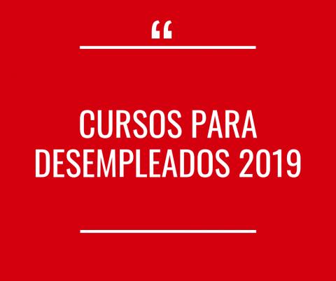 PROGRAMACION CURSOS PARA DESEMPLEADOS 2019