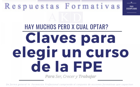 ¿Claves I para elegir un curso de FPE?