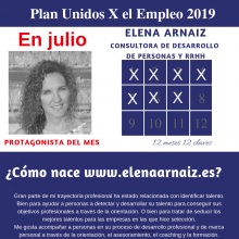 Protagonista UxE del mes de julio Elena Arnaiz